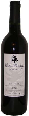 Chateau du Cèdre Cahors Cèdre Héritage Vin rouge 2011