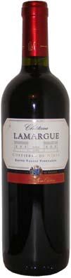 Chateau Lamargue Costières de Nîmes <br>Vin rouge 2011 75cl