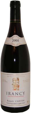 Benoit Cantin Irancy  Vin rouge 2008