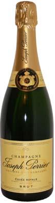 Joseph Perrier Champagne Cuvée Royale Brut<br>Vin effervescent  75cl