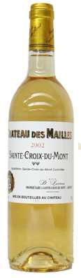 Château des Mailles Sainte Croix du Mont  Vin liquoreux 2009