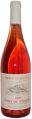 Les Vignerons Ardèchois Côtes du Vivarais Rosé Beaumont des Gras Vin rosé 2013